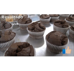 Kit preparado muffins de chocolate 500gr